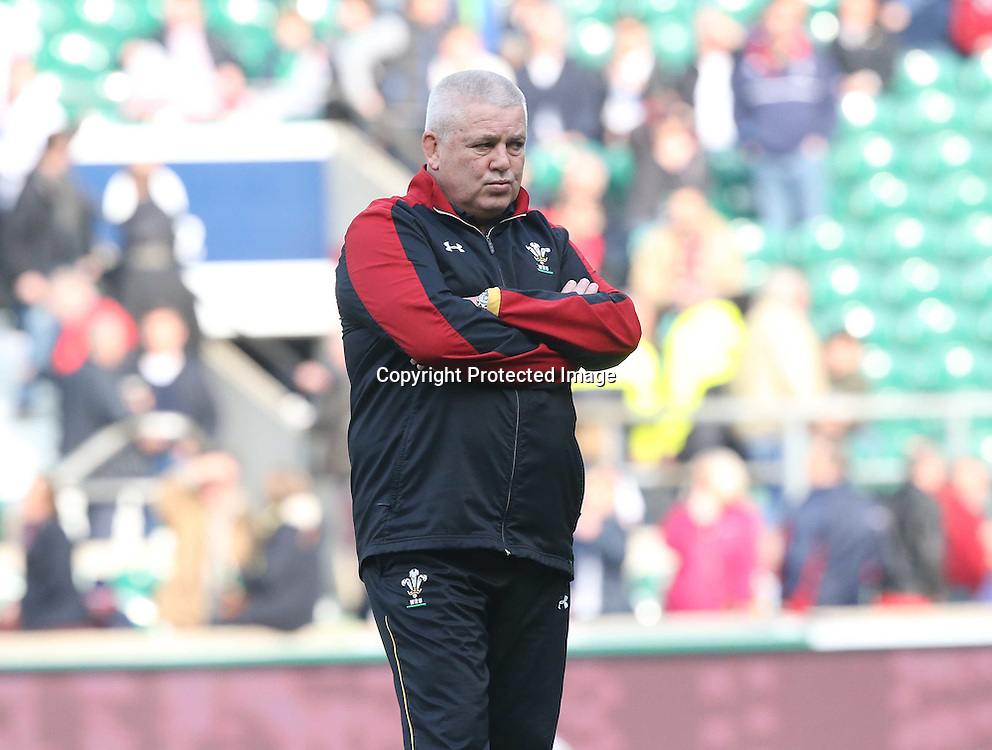 RBS 6 Nations Championship Round 4, Twickenham Stadium, London, England 12/3/2016<br /> England vs Wales<br /> Wales&rsquo; head coach Warren Gatland before the game<br /> Mandatory Credit &copy;INPHO/Billy Stickland