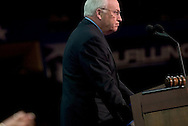 US VP Dick Cheney giving a speech at the RNC..RNC, Madison Square Garden, NYC, NY USA.9/1/04.
