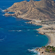 Aerial view of Santa Maria beach. Cabo San Lucas,Baja California Sur, Mexico.