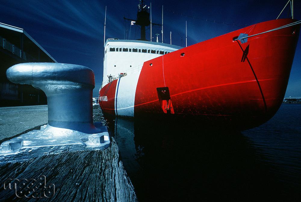 US coast guard ship Port Melbourne Victoria Australia