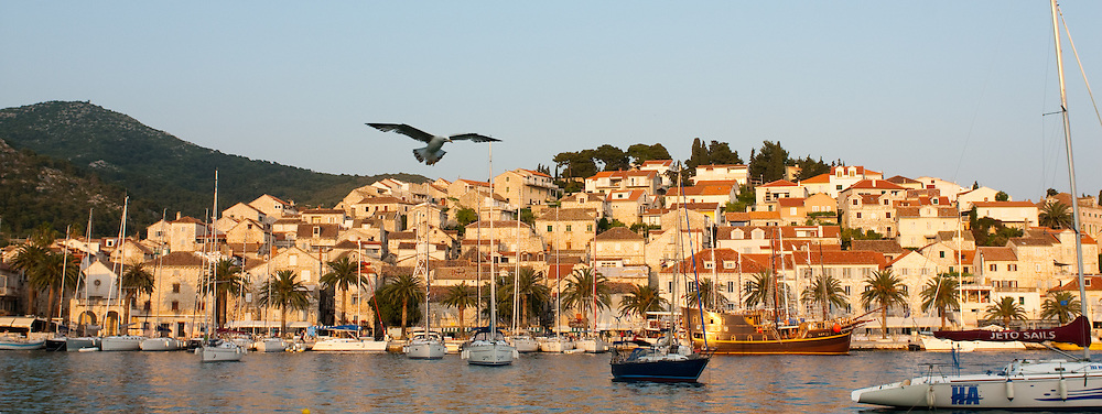 A view of Hvar Town and its harbor.