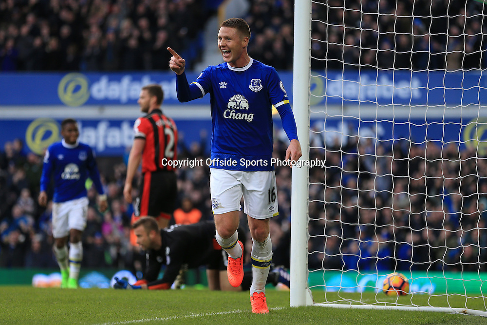 4th February 2017 - Premier League - Everton v Bournemouth - James McCarthy of Everton celebrates after scoring their 2nd goal - Photo: Simon Stacpoole / Offside.