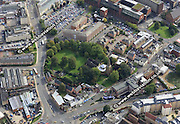 aerial photograph of Northampton Northamptonshire  England UK