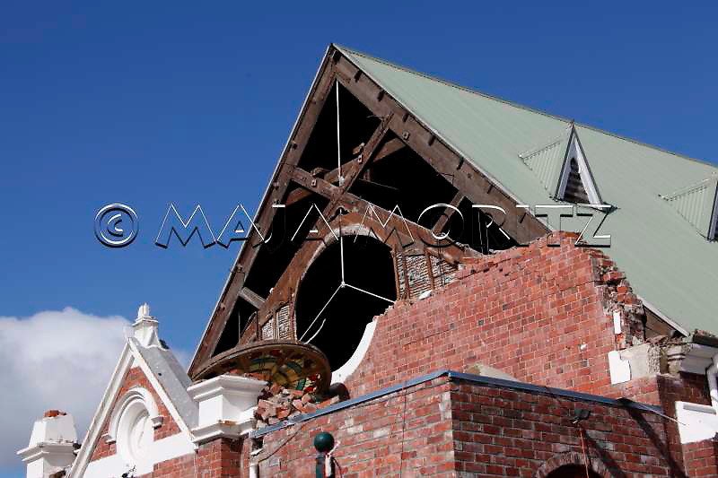 Earthquake damage to the St Mary & St Athanasius Coptic Orthodox Church on Edgeware Road, St Albans, Christchurch, New Zealand