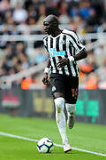 Mohamed Diame (#10) of Newcastle United on the ball during the Premier League match between Newcastle United and Arsenal at St. James's Park, Newcastle, England on 15 September 2018.
