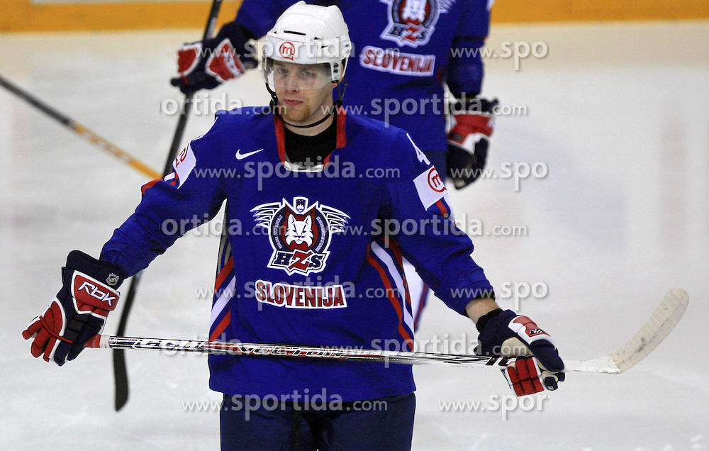 Andrej Tavzelj of Slovenia at ice-hockey game Slovenia vs Slovakia at Relegation  Round (group G) of IIHF WC 2008 in Halifax, on May 09, 2008 in Metro Center, Halifax, Nova Scotia, Canada. Slovakia won 5:1. (Photo by Vid Ponikvar / Sportal Images)