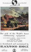 Blackwood Hodge earthmoving equipment advert advertising in Country Life magazine UK 1951