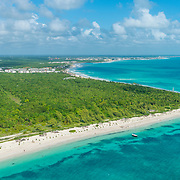 Aerial view of the Riviera Maya near Puerto Morelos