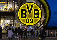 Football - 2018 / 2019 UEFA Champions League - Round of Sixteen, Second Leg: Borussia Dortmund (0) vs. Tottenham Hotspur (3)<br /> <br /> Fans make their way to the Signal Iduna Park (Westfalenstadion).<br /> <br /> COLORSPORT/DANIEL BEARHAM
