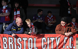 Bristol City fans - Photo mandatory by-line: Dougie Allward/JMP - Mobile: 07966 386802 - 07/03/2015 - SPORT - Football - Crawley - Broadfield Stadium - Crawley Town v Bristol City - Sky Bet League One