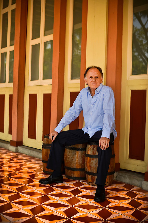 Juan José Illingworth, a software executive, poses for a portrait in Guayaquil, Ecuador. He is the sixth generation namesake of Admiral Juan José Illingworth, an Englishmen who is a national hero that was influential in the fight for Ecuador's independence from Spain. This Illingworth served in the National Assembly from 1996 to 1998. He has long been a champion of greater autonomy for Guayaquil and that led to his own WikiLeaks moment. He is mentioned in a 2005 State Department cable on the autonomy movement, which was among tens of thousands of diplomatic cables made public in 2010 by WikiLeaks. Several years ago, he was also convicted for masterminding the stealing Ecuador's equivalent of the Magna Carta, which he claims was a stunt to bring attention to Guayaquil's autonomy movement.