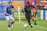 Forest Green Rovers Reuben Reid(26) runs forward during the EFL Sky Bet League 2 match between Macclesfield Town and Forest Green Rovers at Moss Rose, Macclesfield, United Kingdom on 29 September 2018.