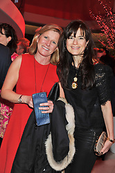 Left to right, JETTE ANDERSEN and KATE SLESINGER at the London Design Week 2013 Party, held at the Design Centre, Chelsea Harbour, London SW10 on 18th March 2013.