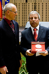 Miroslav Cerar and Slavko Cener at 45th Awards of Stanko Bloudek for sports achievements in Slovenia in year 2009, on February 9, 2010, Brdo pri Kranju, Slovenia.  (Photo by Vid Ponikvar / Sportida)