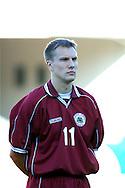 22.05.2002, Olympic Stadium, Helsinki, Finland..Friendly International match, Finland v Latvia..Andrejs Stolcers - Latvia.©Juha Tamminen