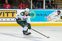 KELOWNA, BC - SEPTEMBER 28:  Ronan Seeley #8 of the Everett Silvertips skates with the puck against the Kelowna Rockets  at Prospera Place on September 28, 2019 in Kelowna, Canada. (Photo by Marissa Baecker/Shoot the Breeze)