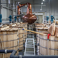 Washbacks and the still at Chichibu Distillery in Chichibu, Saitama Prefecture, Japan, November 4, 2015. Gary He/DRAMBOX MEDIA LIBRARY