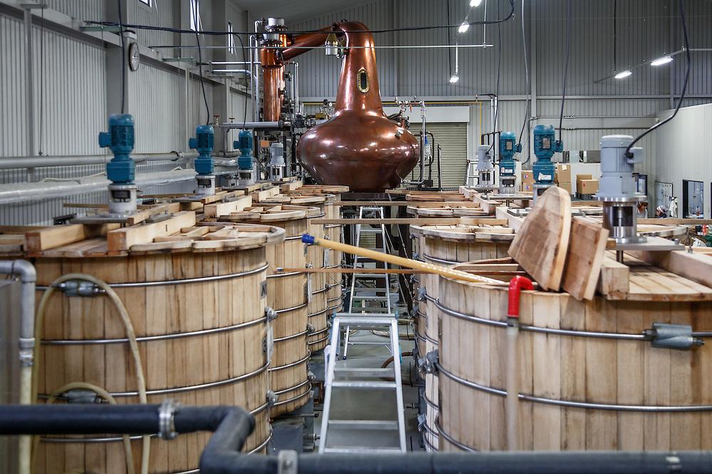 Washbacks and the still at Chichibu Distillery in Chichibu, Saitama Prefecture, Japan, November 4, 2015. Gary He/DRAMBOX MEDIA LIBRARY