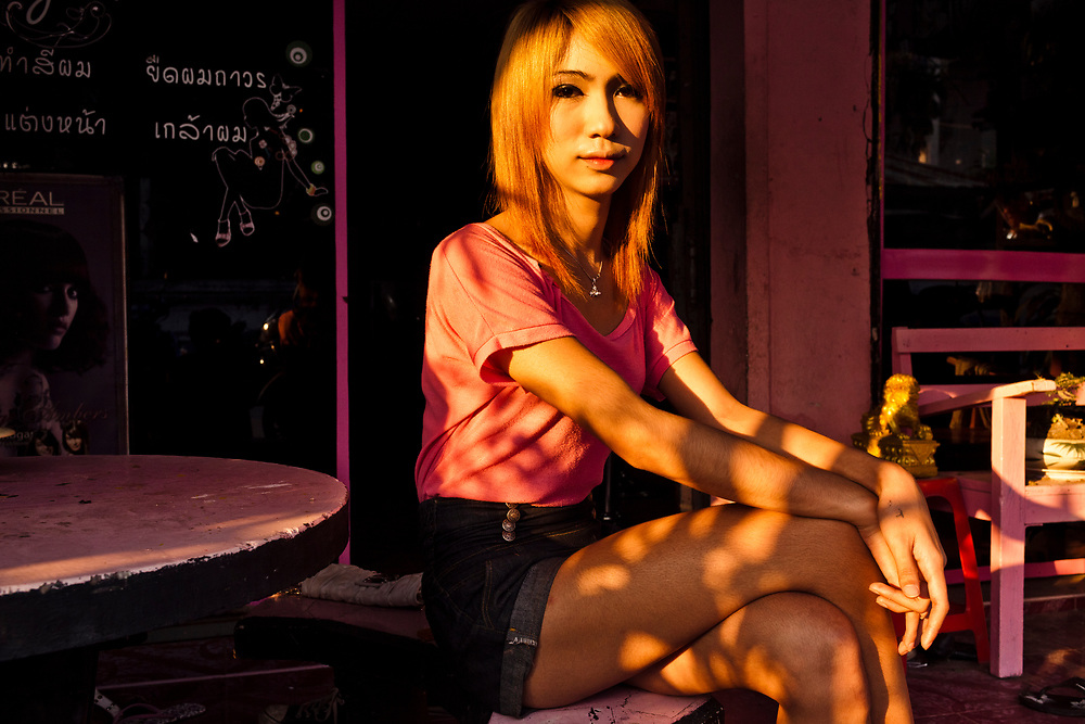 A portrait of Name, a 19-year-old ladyboy in Phrae, Thailand. Name has been taking hormones, in the form of over-the-counter birth control pills, since she was 13.