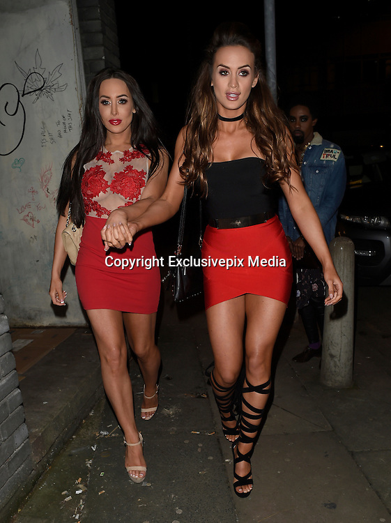 EXCLUSIVE<br /> Ex on the beach stars Laura Alisha Summers with Ali drew at  j sky at panacea in manchester <br /> &copy;Exclusivepix Media