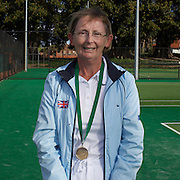 Marjory Love, Great Britain, Semi Finalist, 60 Womens Singles competition during the 2009 ITF Super-Seniors World Team and Individual Championships at Perth, Western Australia, between 2-15th November, 2009