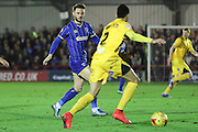 Callum Kennedy of AFC Wimbledon during Sky Bet League 2 match between AFC Wimbledon and Bristol Rovers at the Cherry Red Records Stadium, Kingston, England on 26 December 2015. Photo by Stuart Butcher.