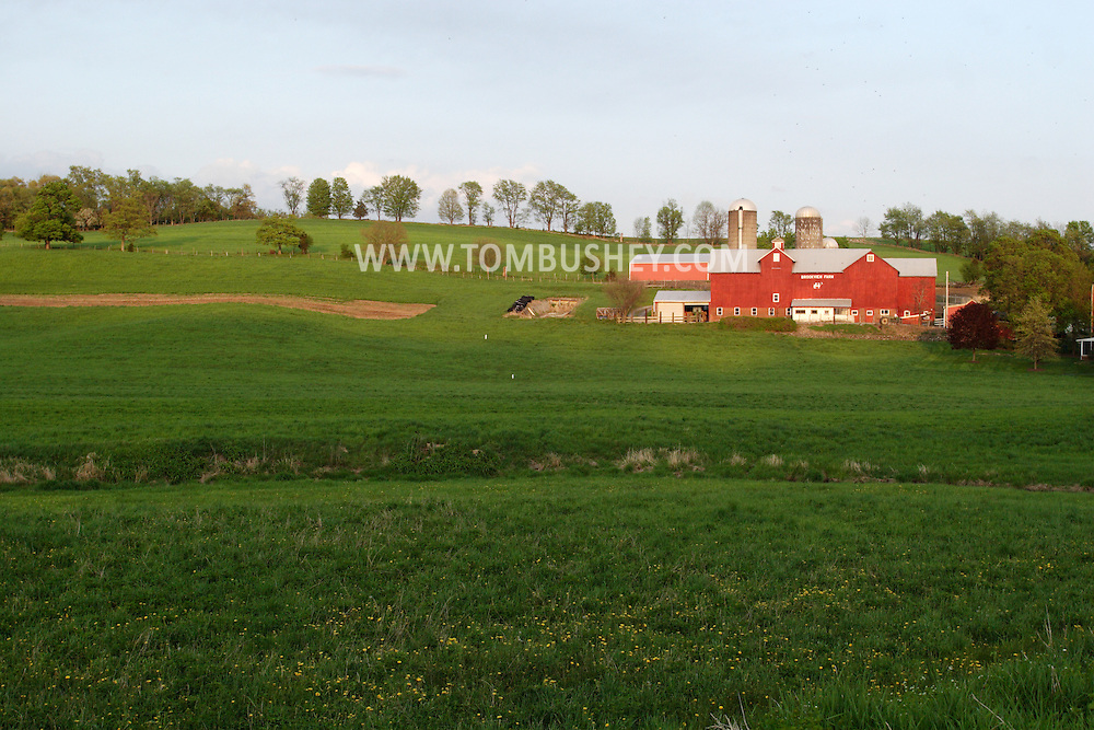 Chester, NY - A view of the Brookview Farm  on May 6, 2008.