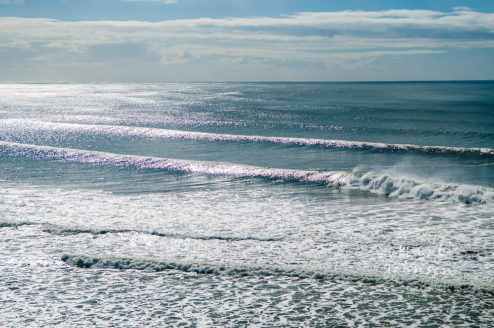 Surfing at the Kirra surf break, Gold Coast, Queensland, Australia