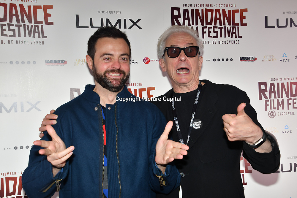Director Gustavo Sanchez - I hate New York and Elliot Grove attend World Premiere of Team Khan - Raindance Film Festival 2018 at Vue Cinemas - Piccadilly, London, UK. 29 September 2018.