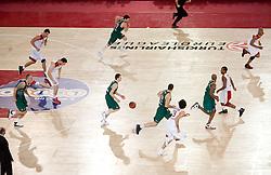 Vlado Ilievski (6) of Olimpija during Euroleague Top 16 basketball match between Lottomatica Virtus Roma (ITA) and KK Union Olimpija Ljubljana (SLO) in Group F, on January 20, 2011 in Arena PalaLottomatica, Rome, Italy. Olimpija defeated Lottomatica 64 - 63. (Photo By Vid Ponikvar / Sportida.com)