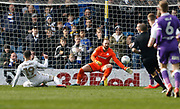 Shot by Leeds United midfielder Pablo Hernandez saved by Bolton Wanderers goalkeeper Ben Alnwick  during the EFL Sky Bet Championship match between Leeds United and Bolton Wanderers at Elland Road, Leeds, England on 30 March 2018. Picture by Paul Thompson.