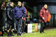 Forest Green Rovers manager, Mark Cooper during the EFL Trophy group stage match between Forest Green Rovers and U21 Arsenal at the New Lawn, Forest Green, United Kingdom on 7 November 2018.