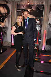 The Formula 1 presenter JAKE HUMPHREY and his wife HARRIET at a party to celebrate 150 years of TAG Heuer held at the car park at Selfridge's, London on 15th September 2010.