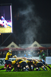 November 18, 2017 - Bucharest, Romania - Smog due to the cold weather during a battle between the two teams  during International Friendly  Rugby match at National Stadium ''Arcul de Triumf'', on November 18th 2017, in Bucharest, Romania. (Credit Image: © Alex Nicodim/NurPhoto via ZUMA Press)