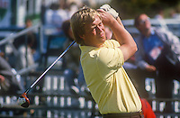 Howard Clark, professional golfer, England, competitor, Irish Open, June, 1986, 19860601HC1<br /> <br /> Copyright Image from Victor Patterson, 54 Dorchester Park, <br /> Belfast, UK, BT9 6RJ<br /> <br /> t1: +44 28 9066 1296 (from Rep of Ireland 048 9066 1296)<br /> t2: +44 28 9002 2446 (from Rep of Ireland 048 9002 2446)<br /> m: +44 7802 353836<br /> <br /> e1: victorpatterson@me.com<br /> e2: victorpatterson@gmail.com<br /> <br /> www.victorpatterson.com<br /> <br /> Please see my Terms and Conditions of Use at VICTORPATTERSON.COM. It is IMPORTANT that you familiarise yourself with them.<br /> <br /> Images used on the Internet must be visibly watermarked i.e. ©VICTORPATTERSON.COM within the body of the image and copyright metadata must not be deleted. Images used on the Internet have a size restriction of 4kbs and are chargeable at the then current NUJ rates.<br /> <br /> This image is only available for the use of the download recipient i.e. television station, newspaper, magazine, book publisher, etc, and must not be passed on to any third party. It is also downloaded on condition that each and every usage is notified within 7 days to victorpatterson@me.com<br /> <br /> The right of Victor Patterson to be identified as the author is asserted in accordance with The Copyright Designs And Patents Act (1988).