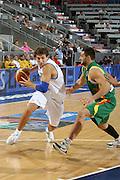 DESCRIZIONE : Madrid Spagna Spain Eurobasket Men 2007 Qualifying Round Italia Lituania Italy Lithuania<br /> GIOCATORE : Stefano Mancinelli<br /> SQUADRA : Italia Italy<br /> EVENTO : Eurobasket Men 2007 Campionati Europei Uomini 2007<br /> GARA : Italia Italy Lituania Lithuania<br /> DATA : 08/09/2007<br /> CATEGORIA : Penetrazione<br /> SPORT : Pallacanestro<br /> AUTORE : Ciamillo&amp;Castoria/E.Castoria