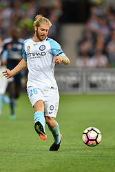 December 17, 2016 - Melbourne, Victoria, Australia - LUKE BRATTAN (26) of Melbourne City kicks the ball in the round 11 match of the A-League between Melbourne City and Melbourne Victory at AAMI Park, Melbourne, Australia. Victory won 2-1 (Credit Image: © Sydney Low via ZUMA Wire)