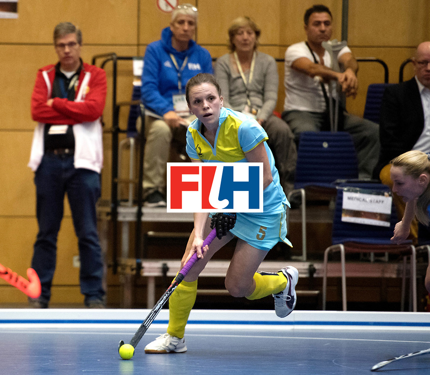 BERLIN - Indoor Hockey World Cup<br /> Women: Ukraine - Czech Republic<br /> foto: MOROZ Yevheniya.<br /> WORLDSPORTPICS COPYRIGHT FRANK UIJLENBROEK