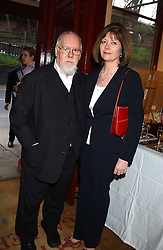 Artist PETER BLAKE and his wife at a private view of paintings by singer Tony Bennett held at the catto Gallery, 100 Heath Street, London NW3 on 5th April 2005.<br />