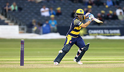David Lloyd of Glamorgan cuts the ball through backward point - Mandatory by-line: Robbie Stephenson/JMP - 10/06/2016 - CRICKET - Brightside Ground - Bristol, United Kingdom - Gloucestershire v Glamorgan - NatWest T20 Blast