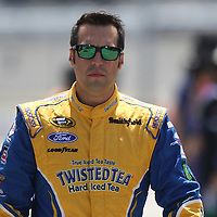 Sprint Cup Series driver Sam Hornish Jr. (9) walks down pit lane during the 57th Annual NASCAR Coke Zero 400 race first practice session at Daytona International Speedway on Friday, July 3, 2015 in Daytona Beach, Florida.  (AP Photo/Alex Menendez)