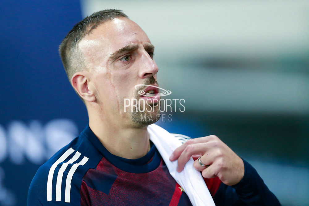 Bayern Munich's French midfielder Franck Ribery enters the pitch during the UEFA Champions League, Group B football match between Paris Saint-Germain and Bayern Munich on September 27, 2017 at the Parc des Princes stadium in Paris, France - Photo Benjamin Cremel / ProSportsImages / DPPI