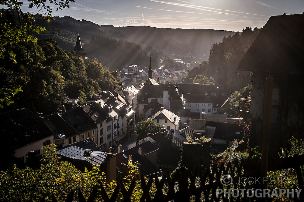 The sun rises over the picturesque village of Vianden, in Luxembourg, near the German border. (Photo © Jock Fistick)