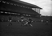 04/09/1960<br /> 09/04/1960<br /> 4 September 1960 <br /> All-Ireland Final: Tipperary v Wexford at Croke Park, Dublin.<br /> Tipperary forward, Liam Connolly, goes down in a fine effort to score.
