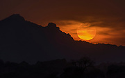 Sunset close to Jawai River, Rajasthan, India.