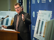 Houston ISD superintendent Dr. Terry Grier comments on effective teacher retention during a news conference, October 30, 2013.