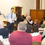 Boston City Councilor Josh Zakim attends a meeting regarding a new Mission Hill building development project at The Mission Church on January 22, 2015 in Boston, Massachusetts. (Photo by Elan Kawesch/The Times of Israel)
