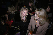 Stella Vine and Jane Newell. The premiere for the new Cirque Du Soleil production, Alegria, at the Royal Albert Hall and party afterwards in the Kensington Roofgarden. London.  5 January 2006. ONE TIME USE ONLY - DO NOT ARCHIVE  © Copyright Photograph by Dafydd Jones 66 Stockwell Park Rd. London SW9 0DA Tel 020 7733 0108 www.dafjones.com