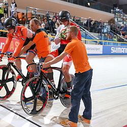 16-12-2016: Wielrennen: NK baanwielrennen: Apeldoorn<br /> APELDOORN (NED) baanwielrennen      <br />  Jeffrey Hoogland heeft op het NK Baanwielrennen een eerste titel veroverd: de Nijverdaller won de sprint. In de finale rekende hij af met Harrie Lavreysen.<br /> Brons ging naar Hugo Haak. Die won de strijd in de kleine finale van Sam Ligtlee.