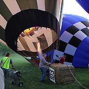 Hot Air balloons prepare to launch in rural Michigan near Battle Creek during competition in the 20th FAI World Hot Air Ballooning Championships. Battle Creek, Michigan, USA. 23rd August 2012. Photo Tim Clayton